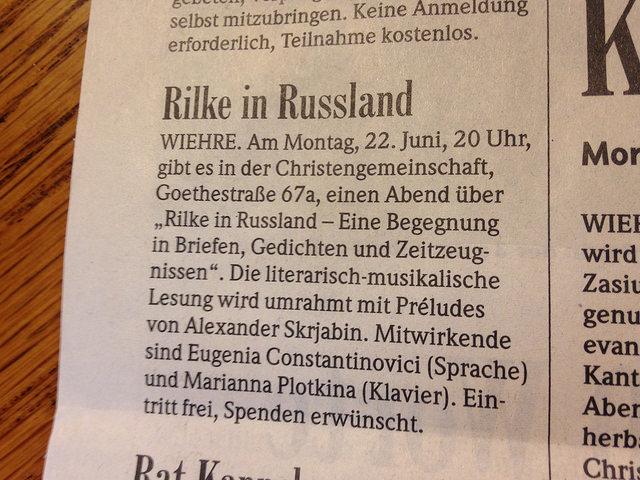 Rilke in Russland