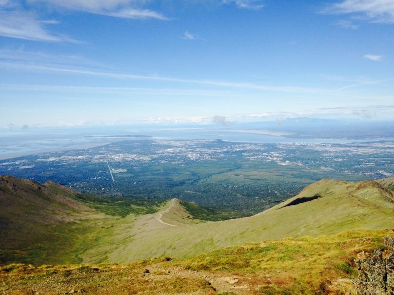 Anchorage, seen from Wolverine Peak